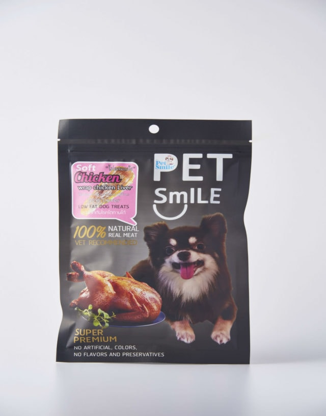 Pet Smile Roast Soft Chicken Breast Wrap Liver