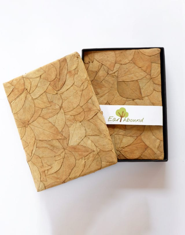 Earthbound Bean Leaf Diary Book and Packaging box
