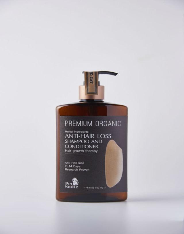 Pet Smile Premium [Rice] Organic Anti-Hair Loss Shampoo and Conditioner for Cat