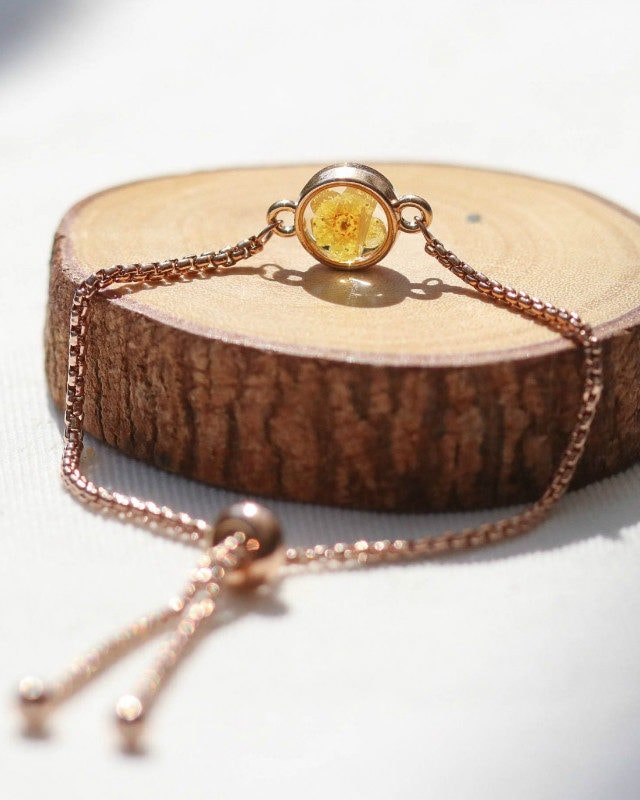Mini Bracelet Plum Flower Rosegold