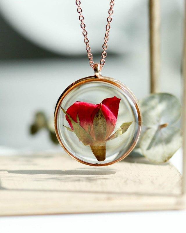 Necklace Bright Rose 25 mm Rosegold