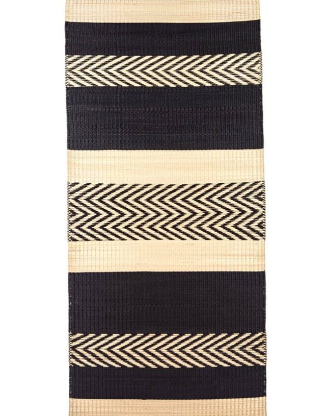Maxi stripe mat Black