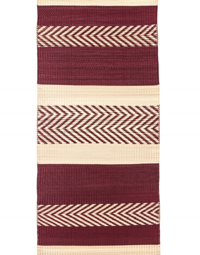 Maxi stripe mat Red