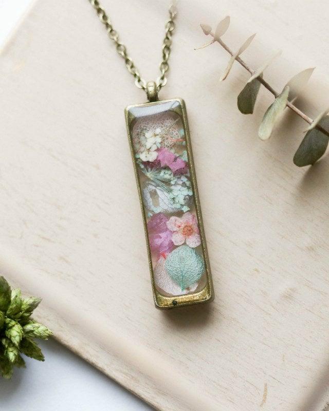 Necklace stick mix flowers