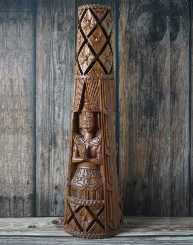 Teak Wooden Carving Lamp