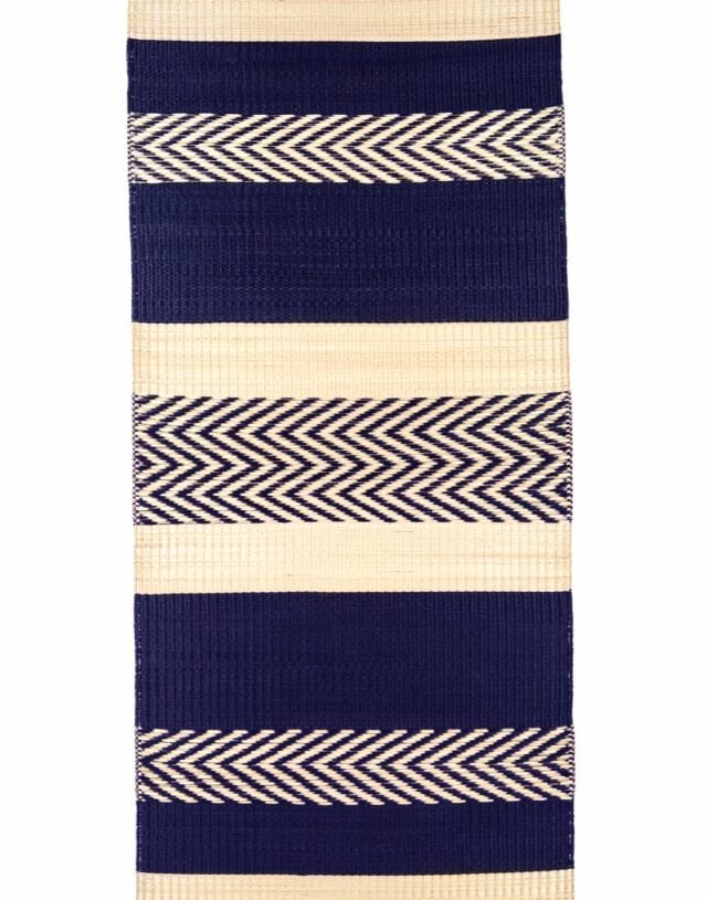 Maxi stripe mat Blue