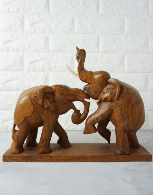 Teak Wooden Carving Elephant