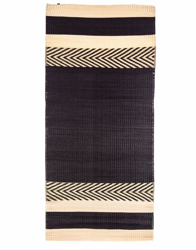 Mini stripe mat Black