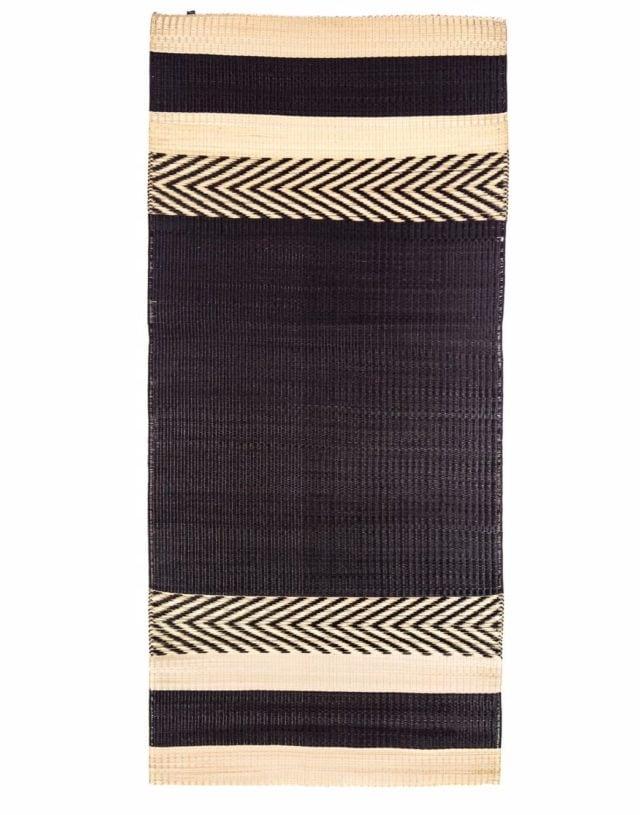 Mini stripe mat Black