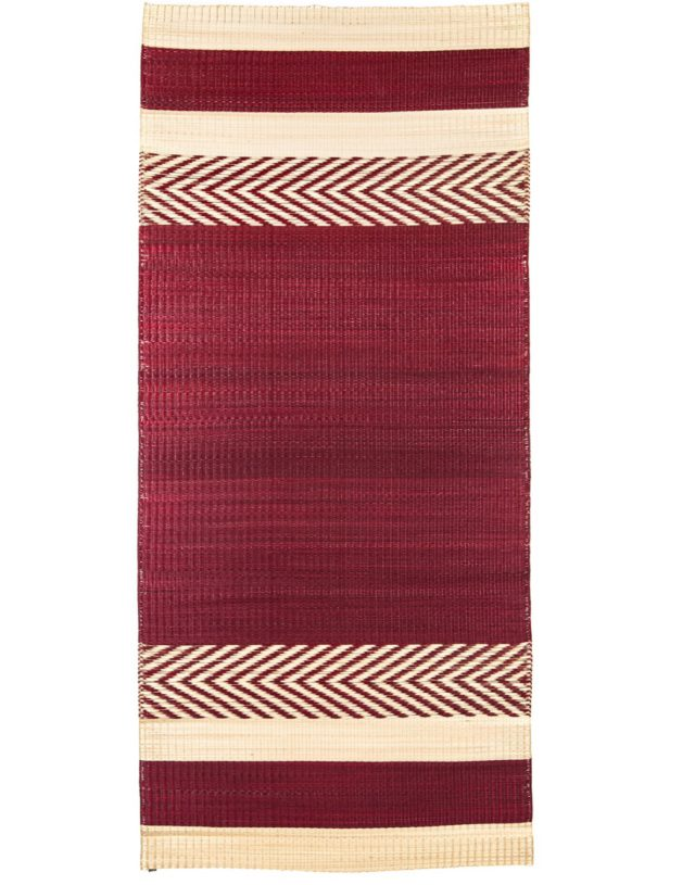 Mini stripe mat Red