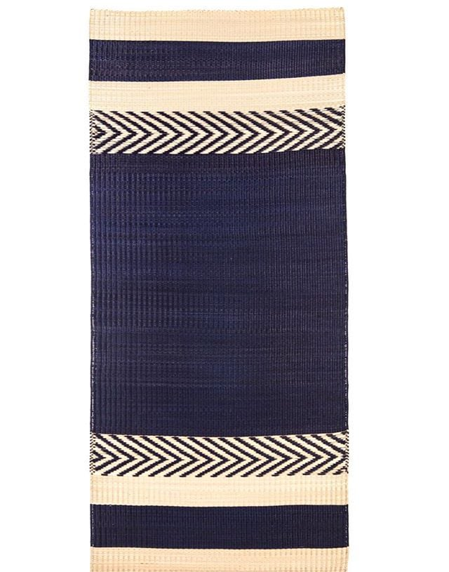 Mini stripe mat Blue