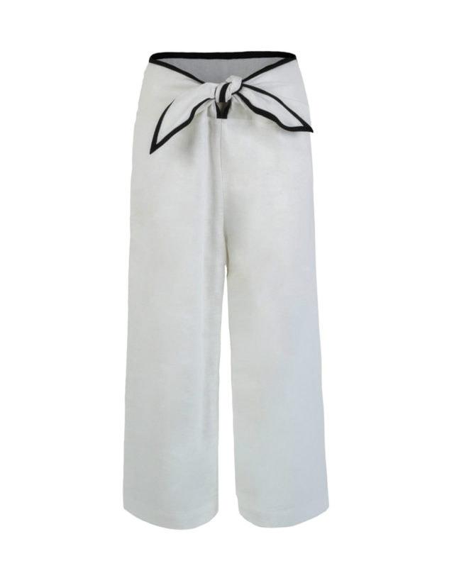 Tied-up fisherman pants