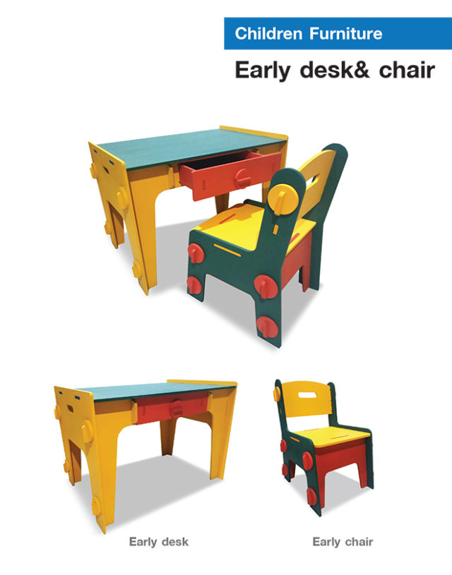 Early desk & chair
