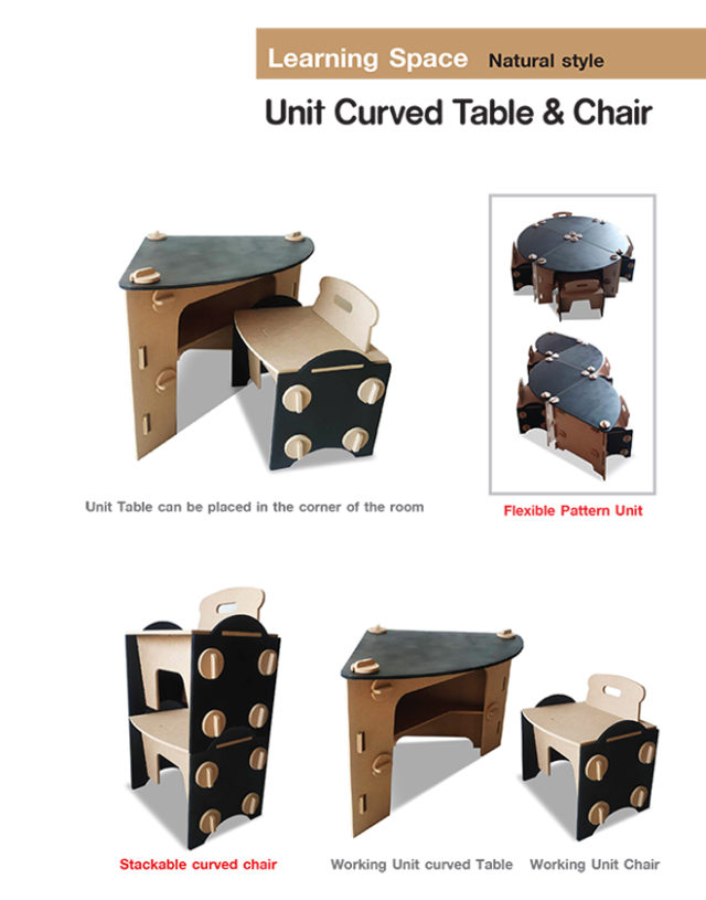 Unit Curved Table & Chair