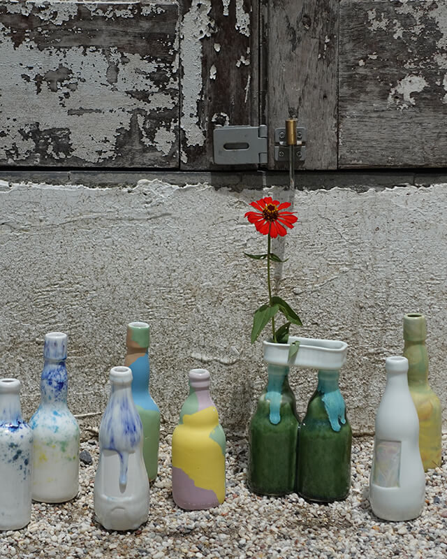 No waste // No wares collection - bottle vases