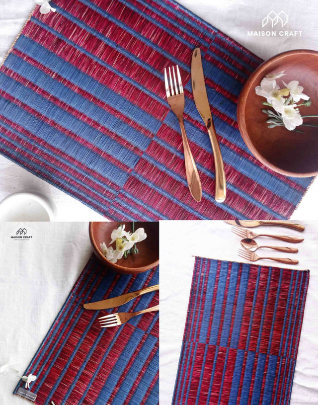 Placemat L Blue-red