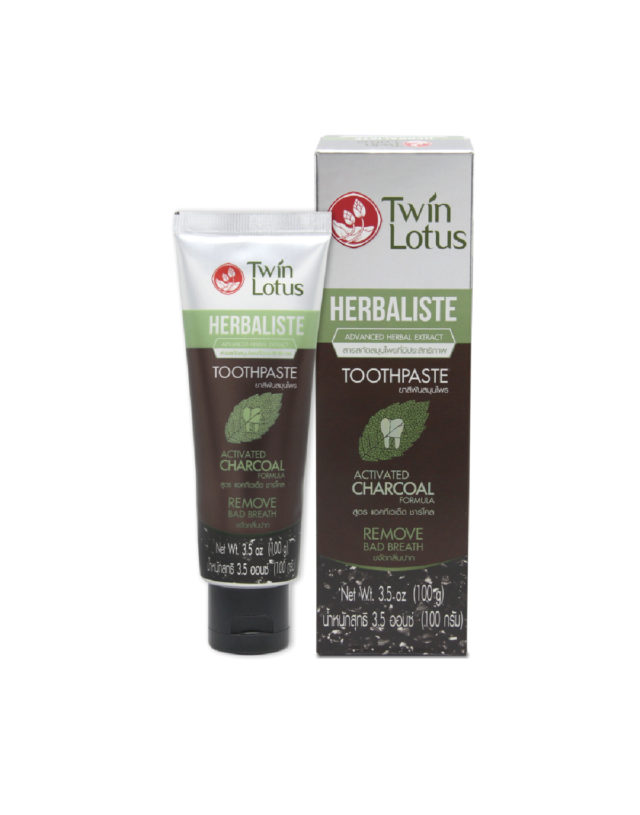 Twin Lotus Herbaliste Active Charcoal Toothpaste