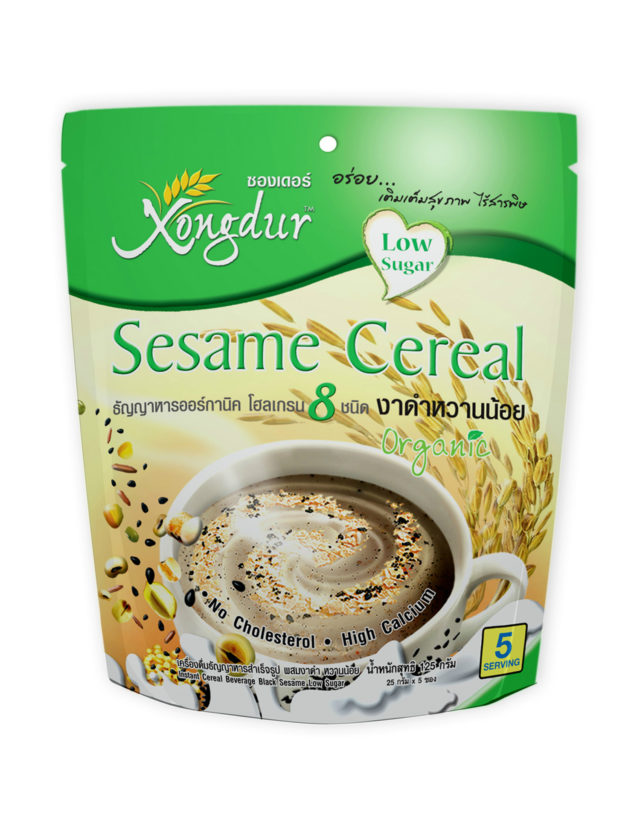 Instant 8 Whole Grains Sesame Cereal Low Sugar