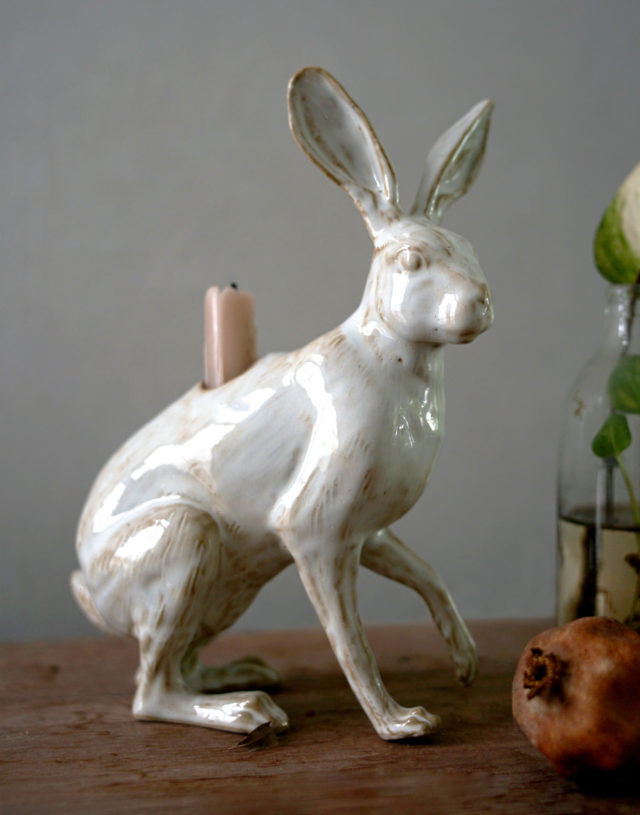 Hare Candle Holder