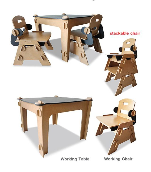 Working table & Chair (Natural style)